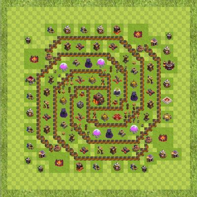 War Base Town Hall Level 10 By Pratyamar (Th10 TH 10 Layout)