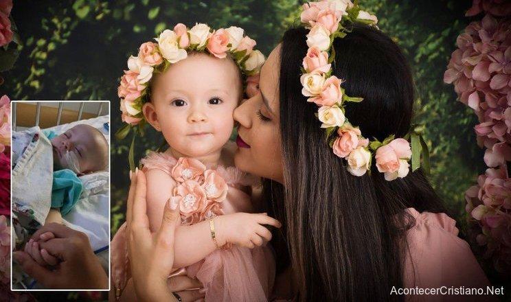 Bebé es sanada de cáncer