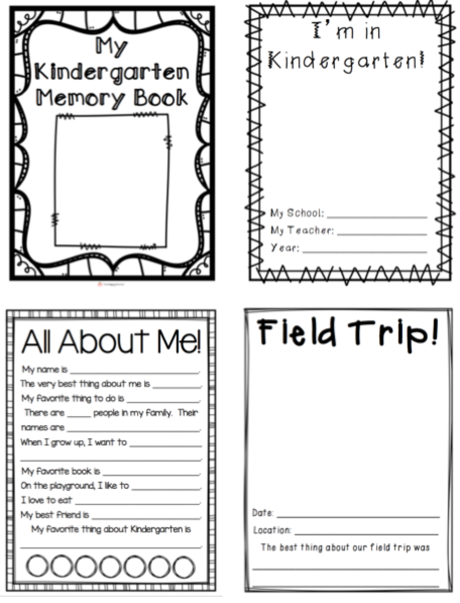 This is a picture of Preschool Memory Book Printable intended for fourth grade