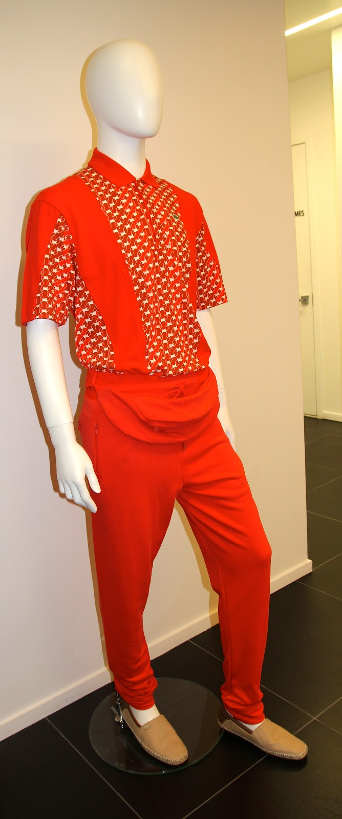 aa2b55b7 Yup-that's a fanny pack on this mannequin (removable, no worries)-a look  straight off the runway-polo shirt of red printed and plain cotton plus  track suit ...