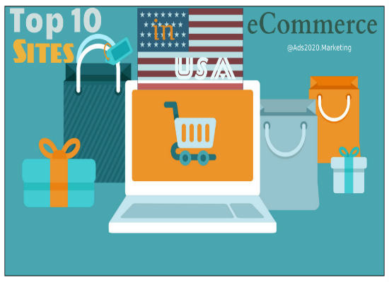 What are 10 best ecommerce shopping sites in usa to buy for Great places to shop online