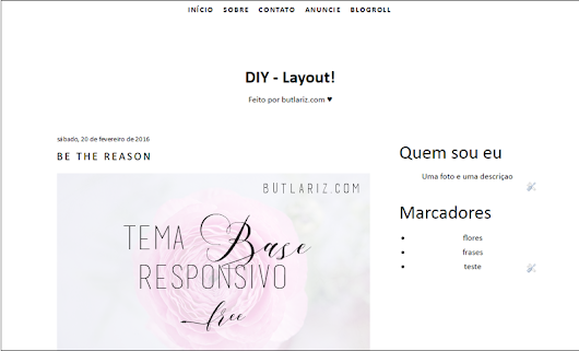 Tema Base Responsivo - DIY Layout!