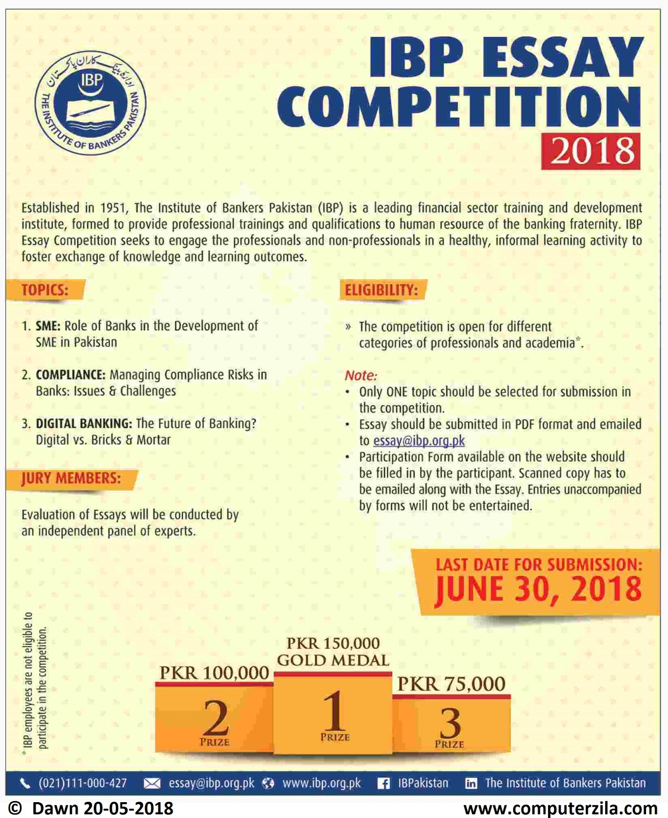 IBP Essay Competition 2017