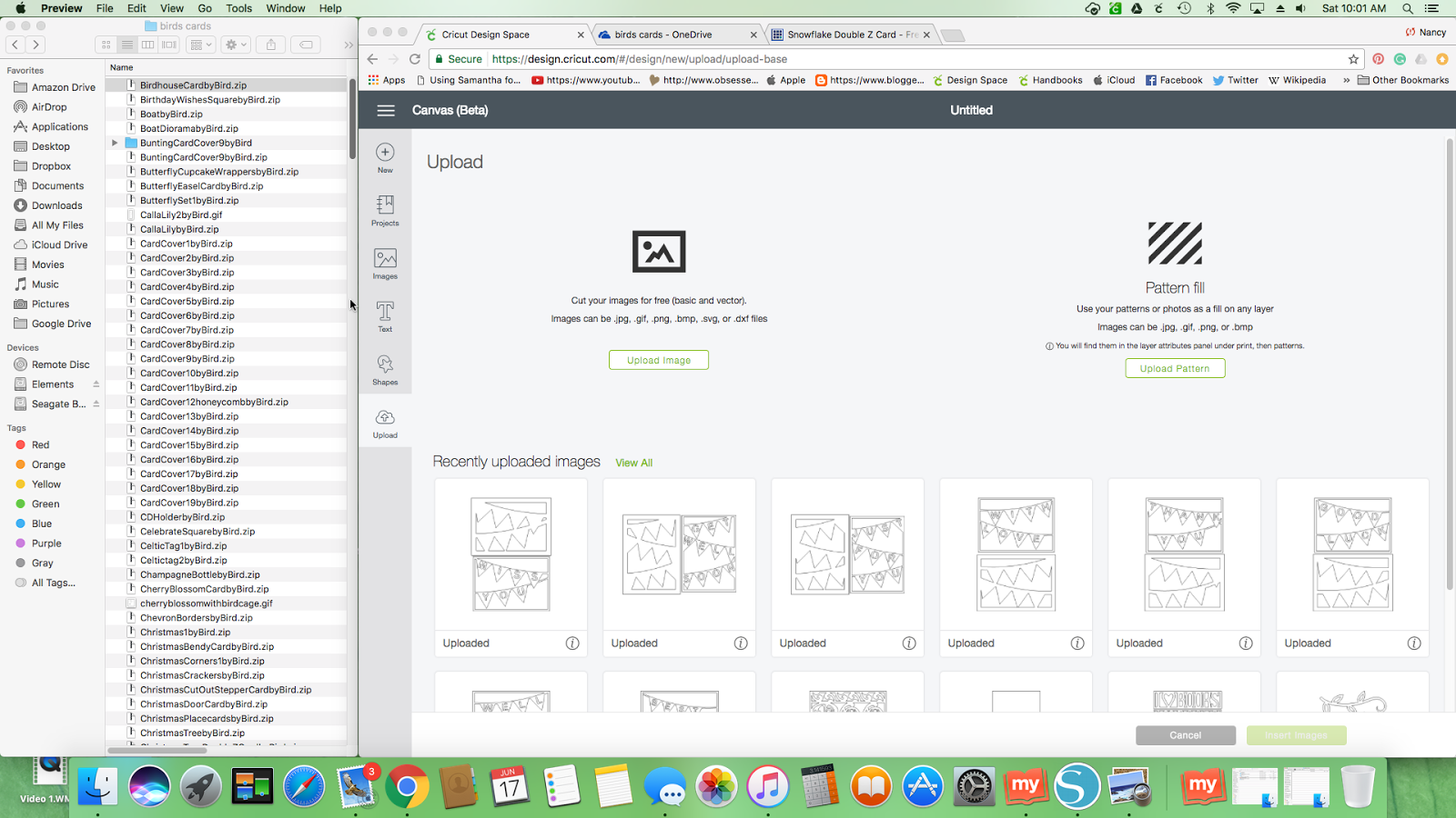 Nancy's Scrappin' and Stamps: Design Space 3: Upload Images with