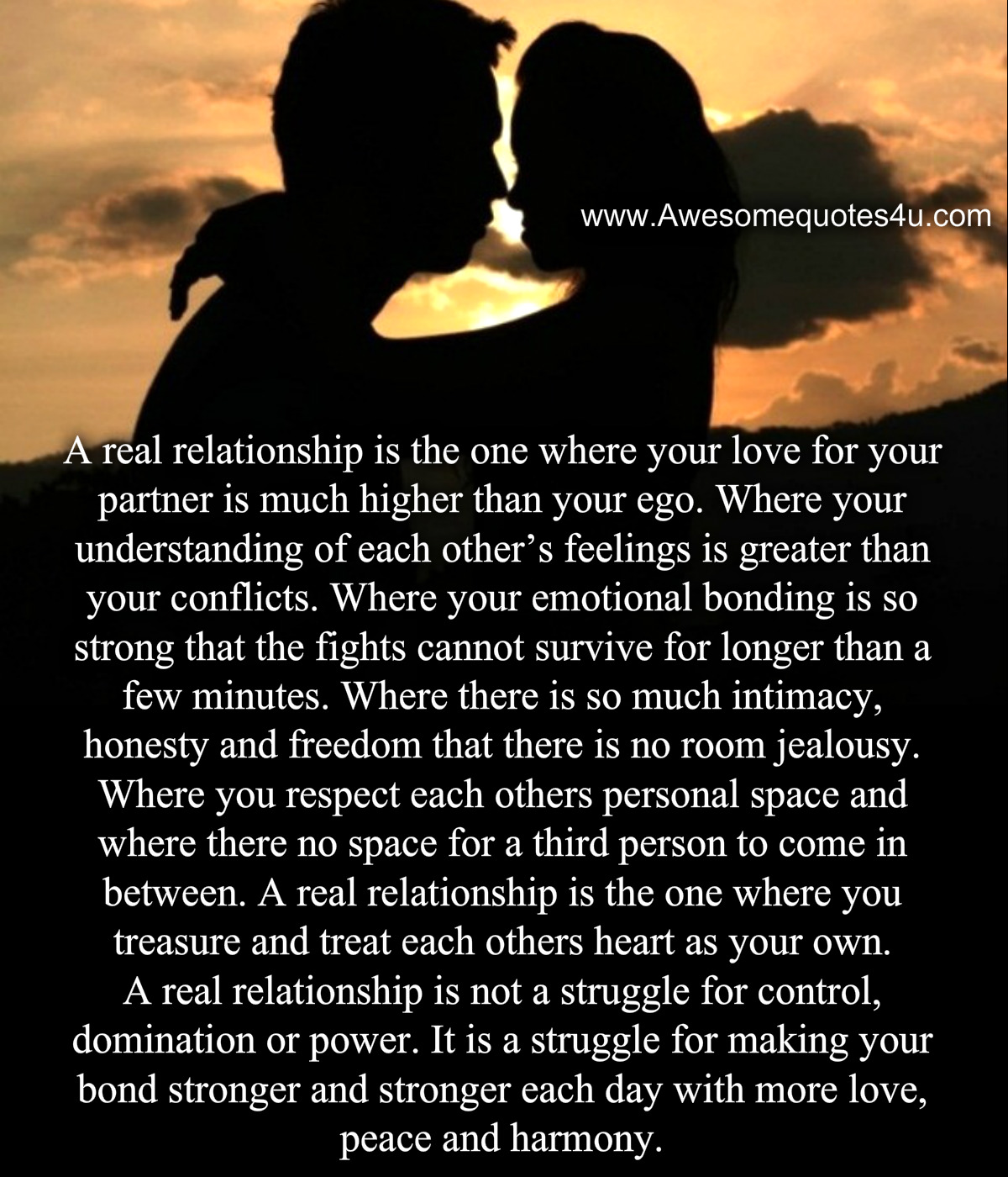Awesome Quotes: A Real Relationship