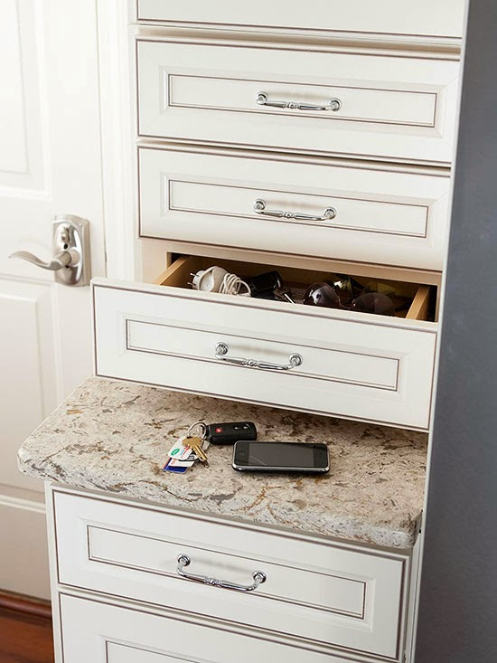 extra row drawers flanking refrigerator adds perfect smart storage solutions small kitchen design