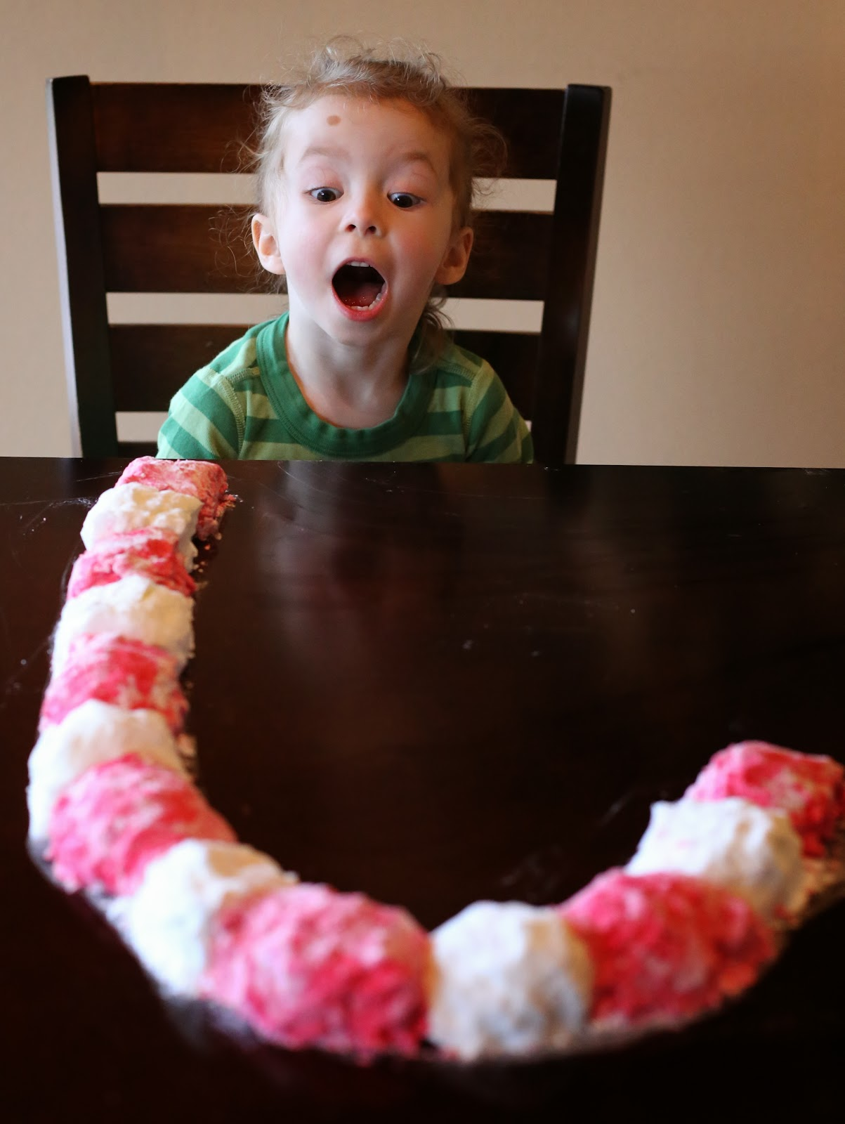Candy Cane Foam Dough Recipe from Fun at Home with Kids - three amazing sensory experiences from just one recipe!