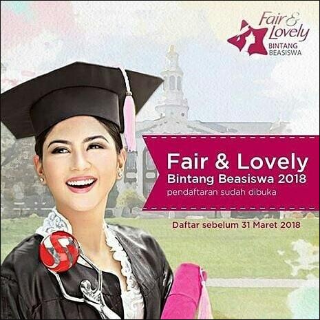 Beasiswa Pendidikan Fair & Lovely Maret 2018