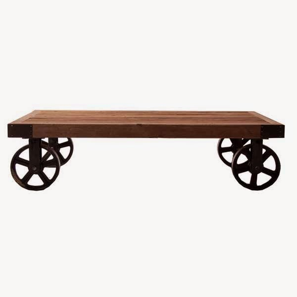 Mesa de centro tipo carro rustico