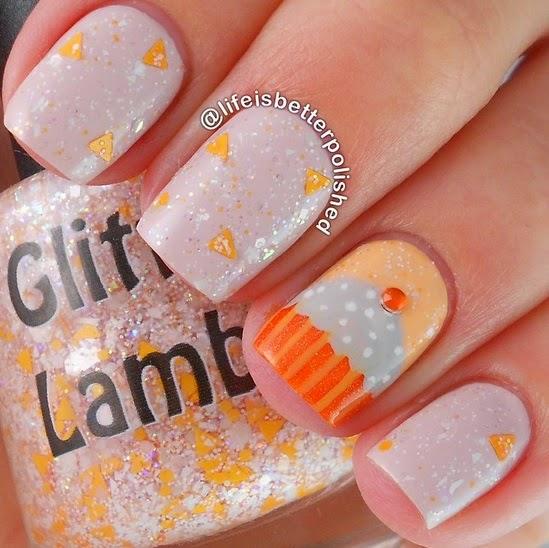 Pumpkin Cupcake Glitter Lambs Nail Polish Fall nail polish nails