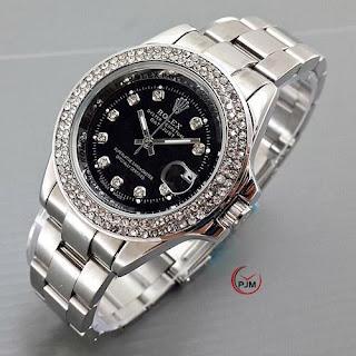 Jam Tangan Rolex Wanita Silver