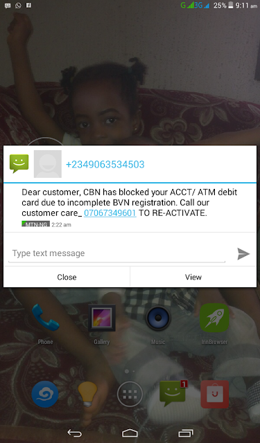 Beware of the ATM Card Deactivation BVN Scam