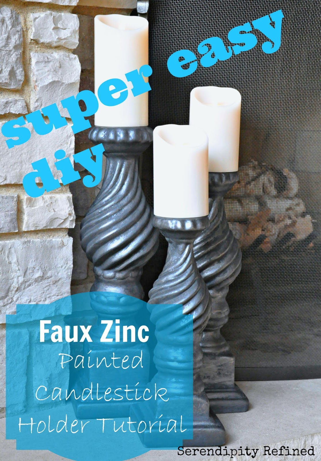 3 Easy Diy Storage Ideas For Small Kitchen: Serendipity Refined Blog: EASY DIY: Super Simple Faux Zinc
