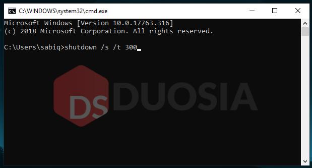 Shutdown Laptop dengan Timer Menggunakan Command Prompt (CMD)