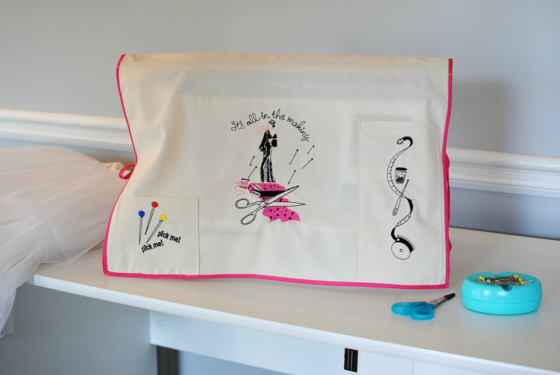 DIY Embroidered Sewing Machine Cover