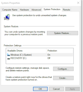 how to set windows 10 to a chosen restore point