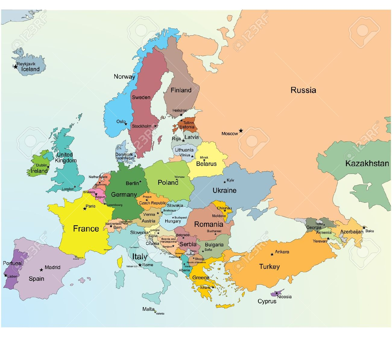 The Memory City Blog How To Memorize Every Country And Capital In - Austria location in europe