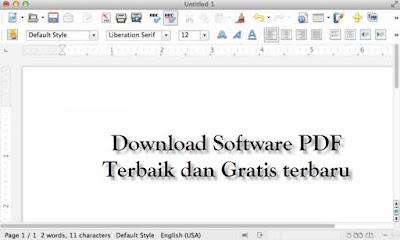 download software PDF terbaik terbaru gratis Libre Office Fresh