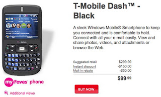 T-Mobile Dash in Black available