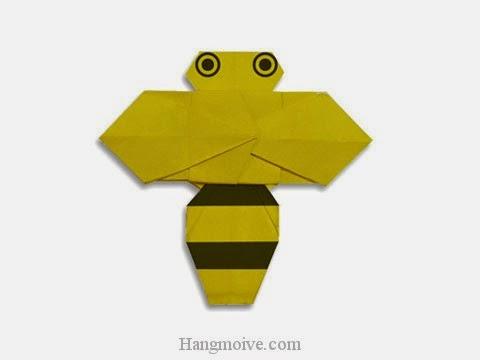 Cách gấp, xếp con Ong bằng giấy origami - Video hướng dẫn xếp hình côn trùng - How to fold a Bee