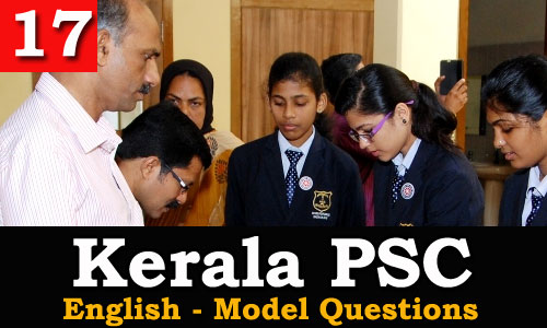 Kerala PSC - Model Questions English - 17
