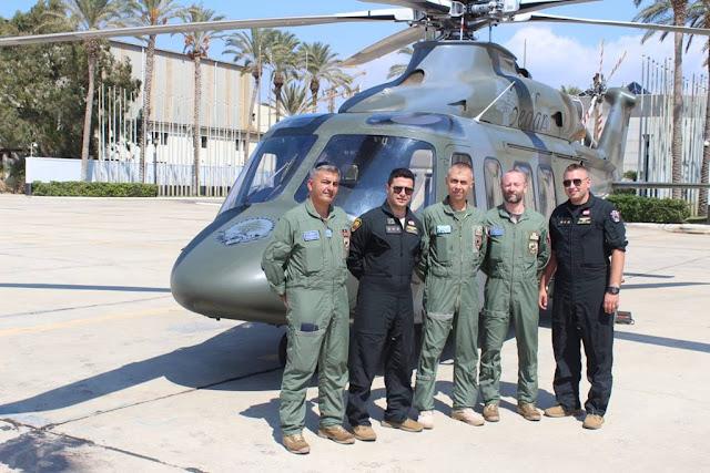 Italian Air Force trains Lebanese AW139