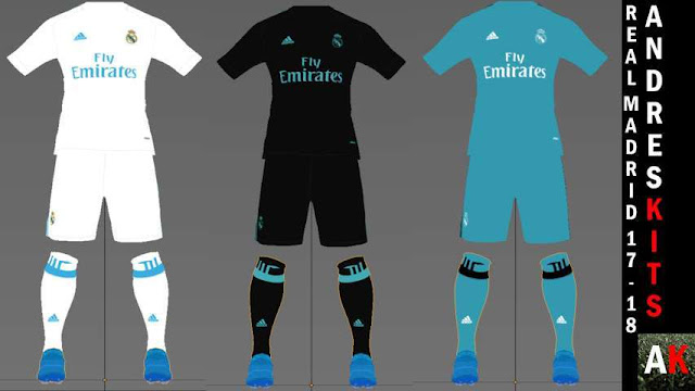 ed2391f70 Real Madrid 17 18 Kits - PES 2017 - PATCH PES
