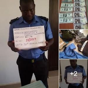 Kaduna Zonal Office EFCC Agents Captured Fake Police Man Printing Fake Currency