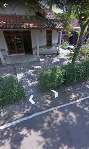 Desa Kalimade Kesesi Dilihat dari Google Earth