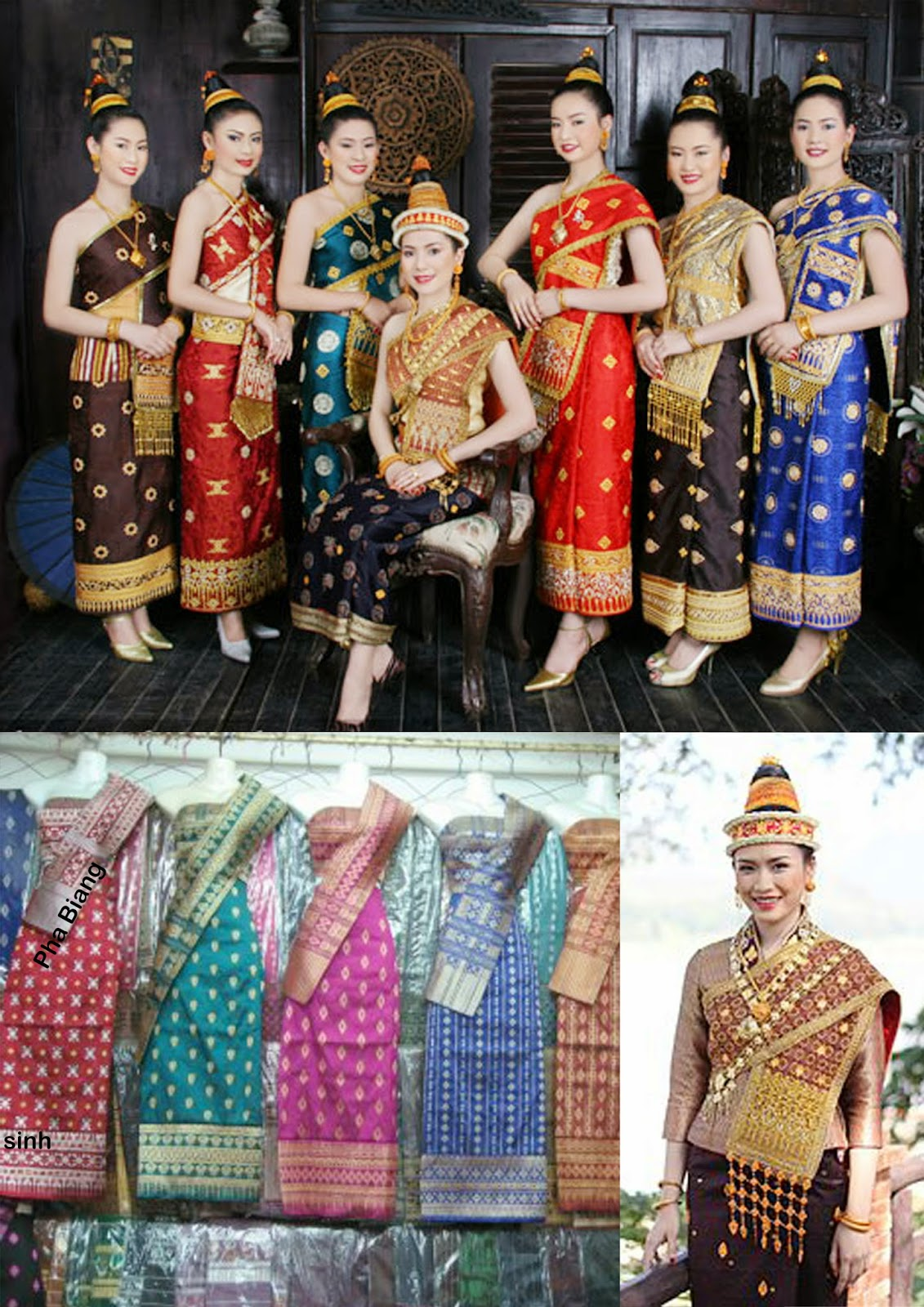 laos traditional clothing lao laotian thailand asean costume dresses wear outfits country outfit asian clothes tradition culture patterns cultural asia