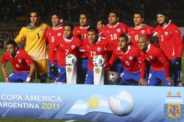 Formación de Chile ante Venezuela, Copa América 2011, 17 de julio