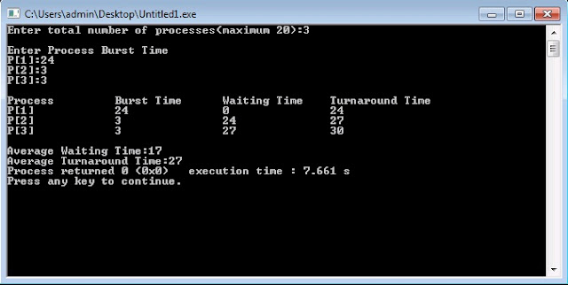C/C++ Program for First Come First Served (FCFS) Scheduling Algorithm