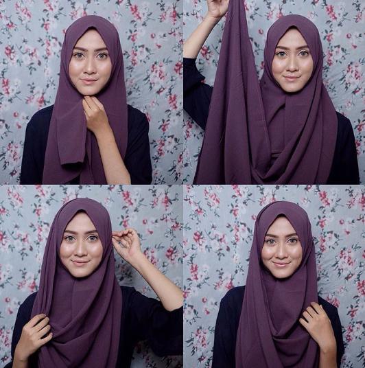 tutorial hijab paling simple