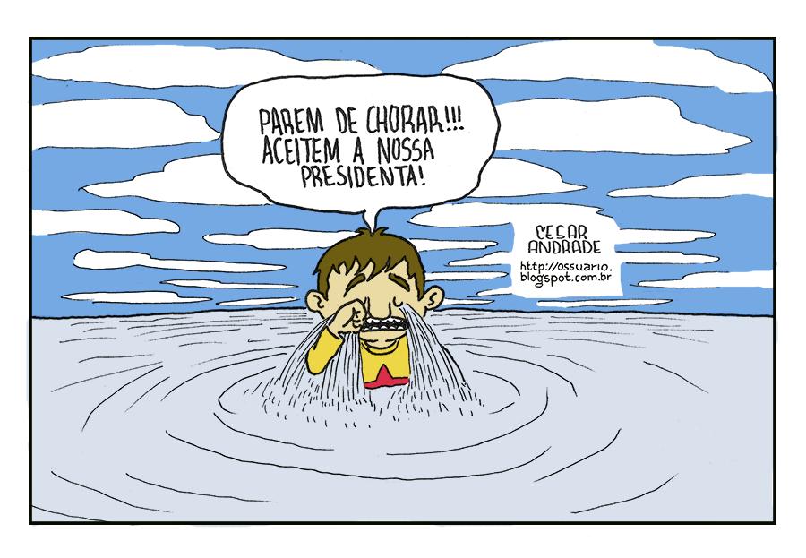 Charge sobre chorões, por Cesar Andrade