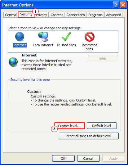 Security custom level