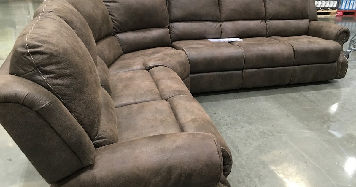 fabric sectional sofa with recliner sofascore copenhagen vs porto motion three recliners | costco weekender