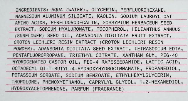 Ingredientes Bubble Oxigen Mask
