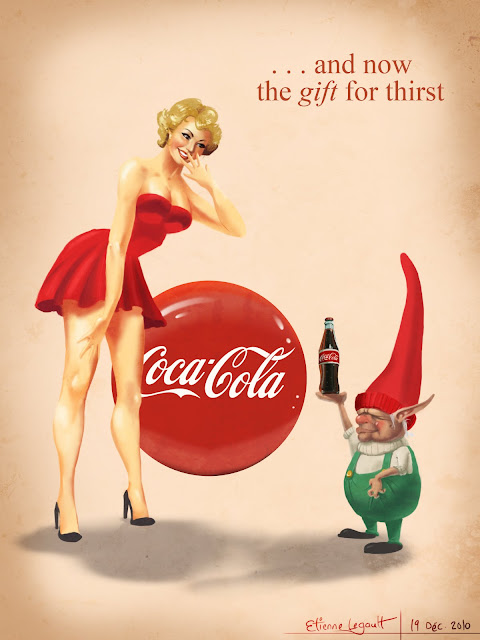 Coca-Cola Pin-up Girl by Etienne Legault