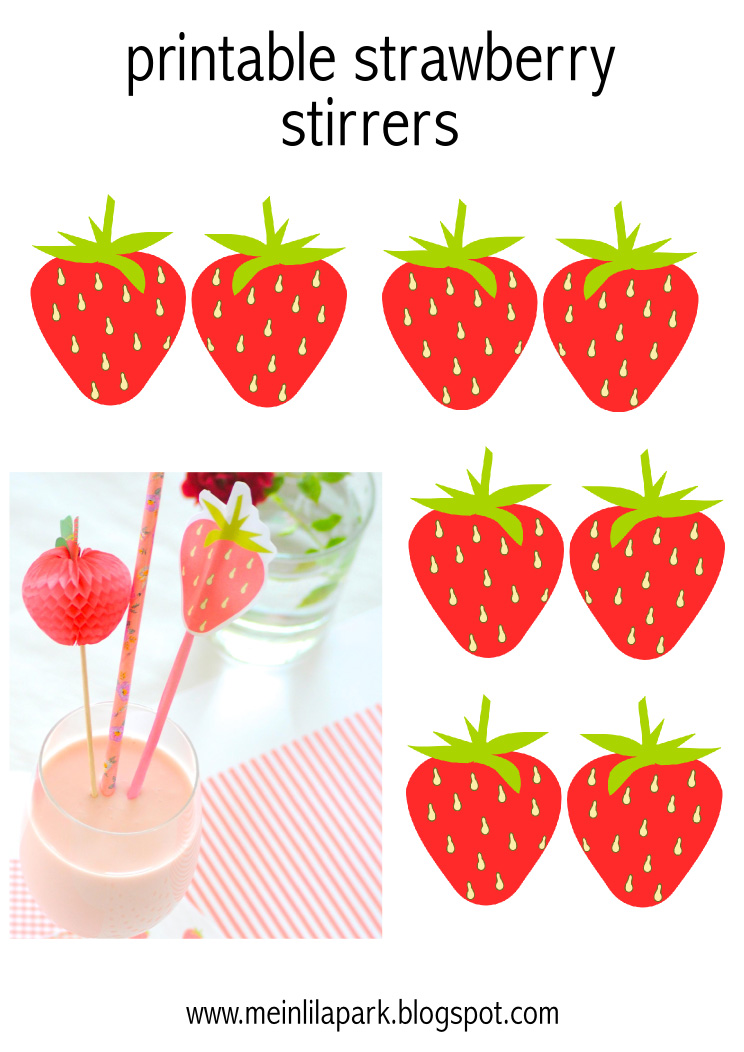photo relating to Strawberry Printable named Totally free printable strawberry Do-it-yourself milk consume stirrers - Do-it-yourself