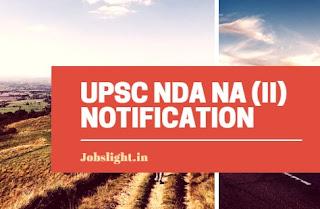 UPSC NDA NA (II) Notification