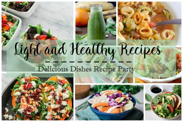 A great collection of light and healthy recipes featured on our Delicious Dishes Recipe Party from Walking on Sunshine.