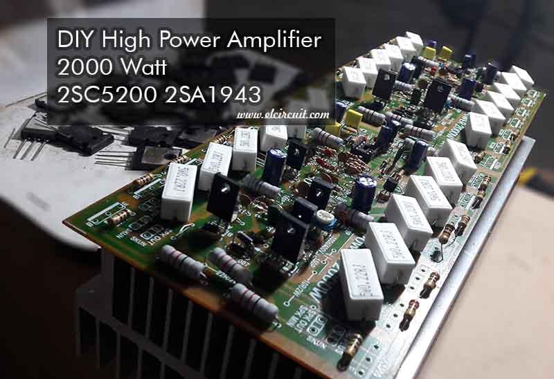 2sc5200 C5200 Transistor Amplifier Circuit Diagram