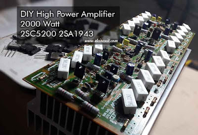 Power Amplifier circuit 2000W