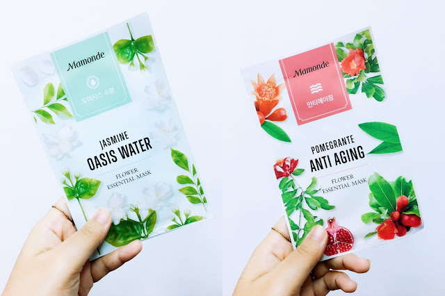 Mamonde; Flower Essential Masks; KBeauty; Mamonde Malaysia; Mask Review; Jasmine Oasis Water; Pomegranate Anti Aging