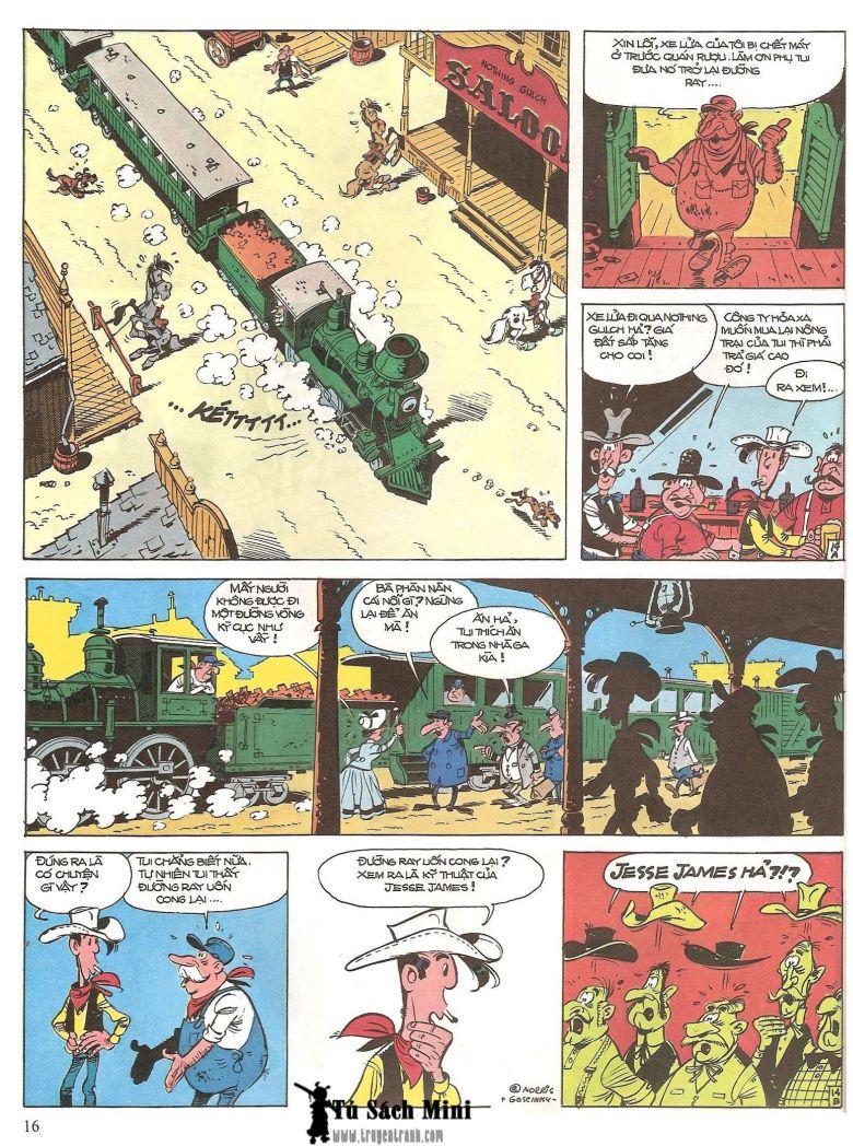 Lucky Luke tap 16 - jesse james hiep si rung xanh trang 18