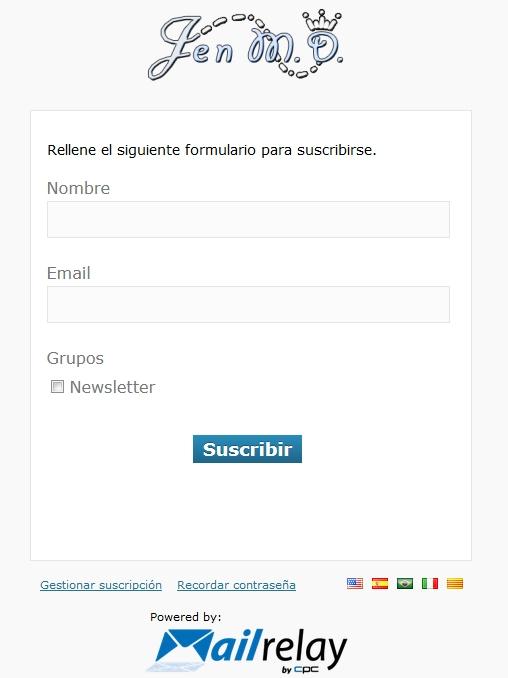 página del formulario mailrelay