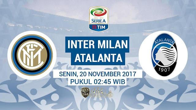 Prediksi Bola : Inter Milan Vs Atalanta , Senin 20 November 2017 Pukul 02.45 WIB