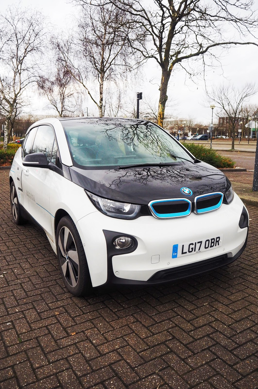White BMW i3 Electric Car