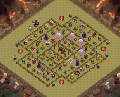 Formasi Base War TH 10 Terkuat